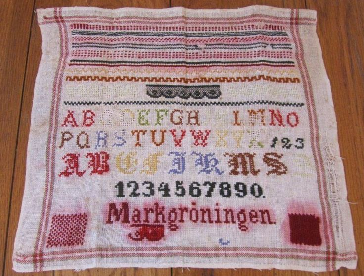 Antique PA 1800s Sampler ABC Numbers Signed