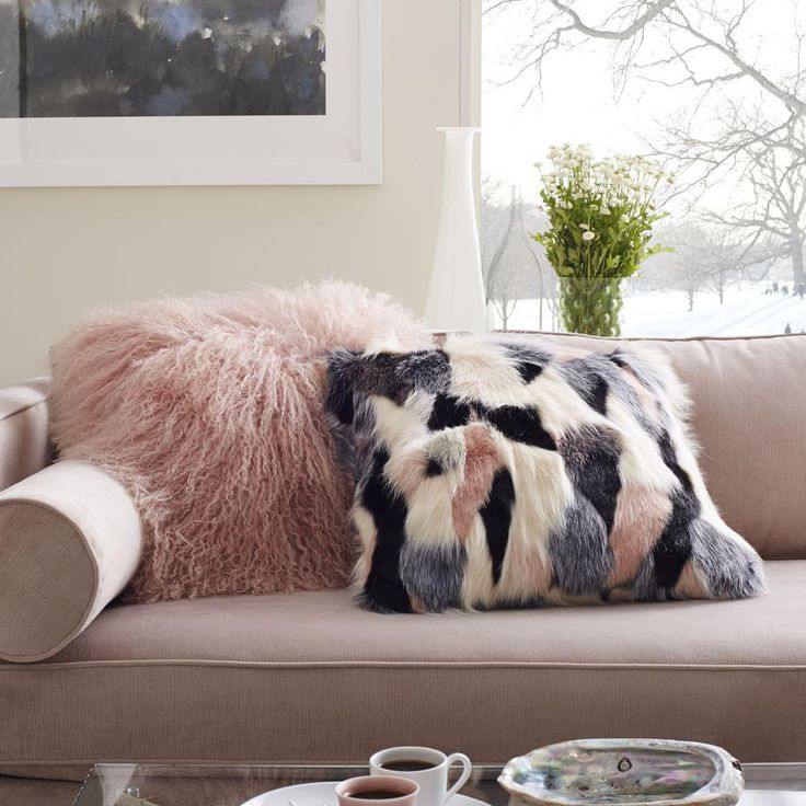 Few things are more inviting than these Mongolian lambskin Cushion covers. Their soft texture cosies up sofas and chairs.