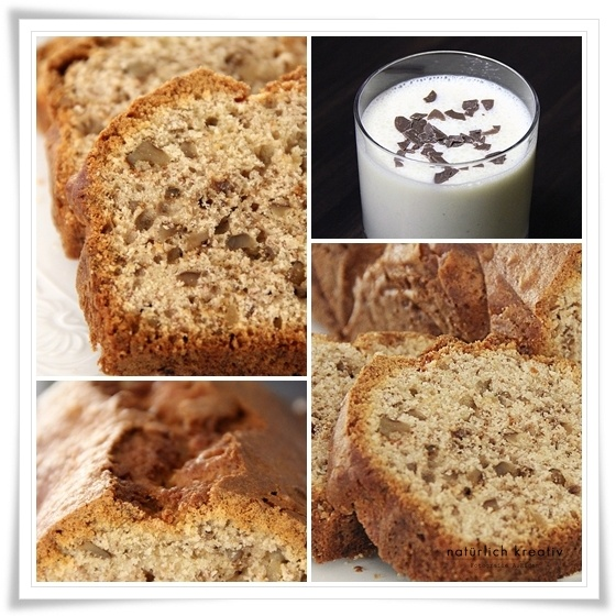 banana walnut bread w/banana milkshake | Food | Pinterest | Banana ...