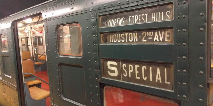 During a few weeks at the end of the year, the New York City subway system runs an antique subway line that you can ride. So we did!