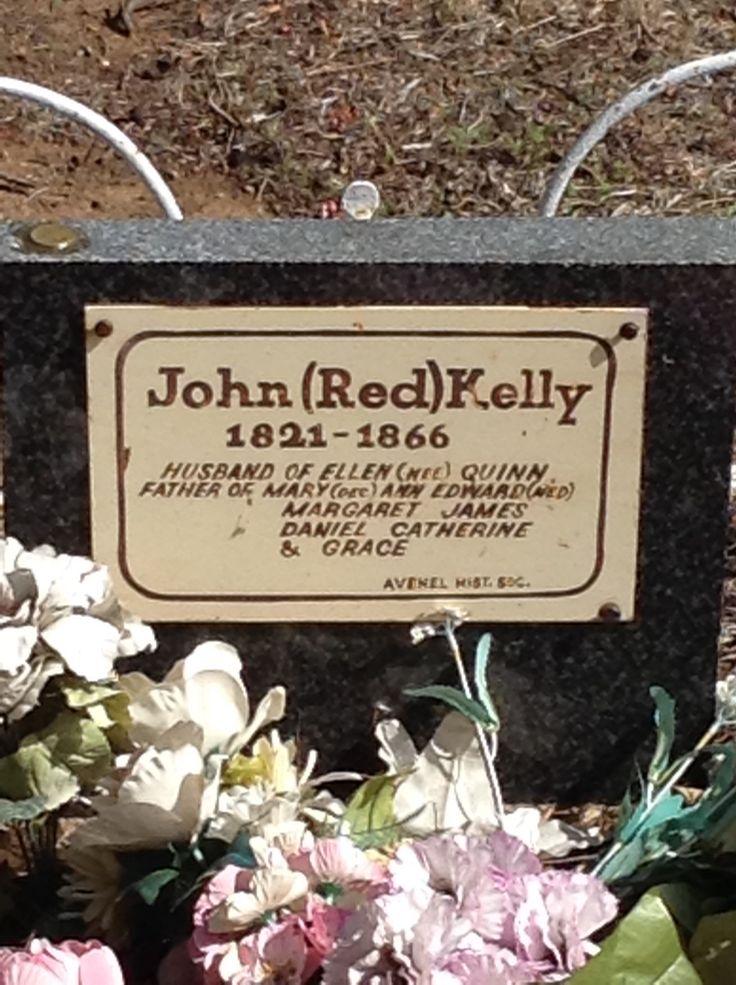 Ned Kelly's Dad's headstone Averill