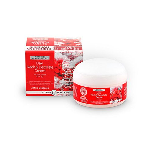 Whitening neck and decollete day cream Natura Siberica