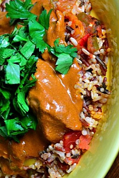Slow Cooker Chicken Mole Recipe for a Fiesta Dinner Party reluctantentertainer.com