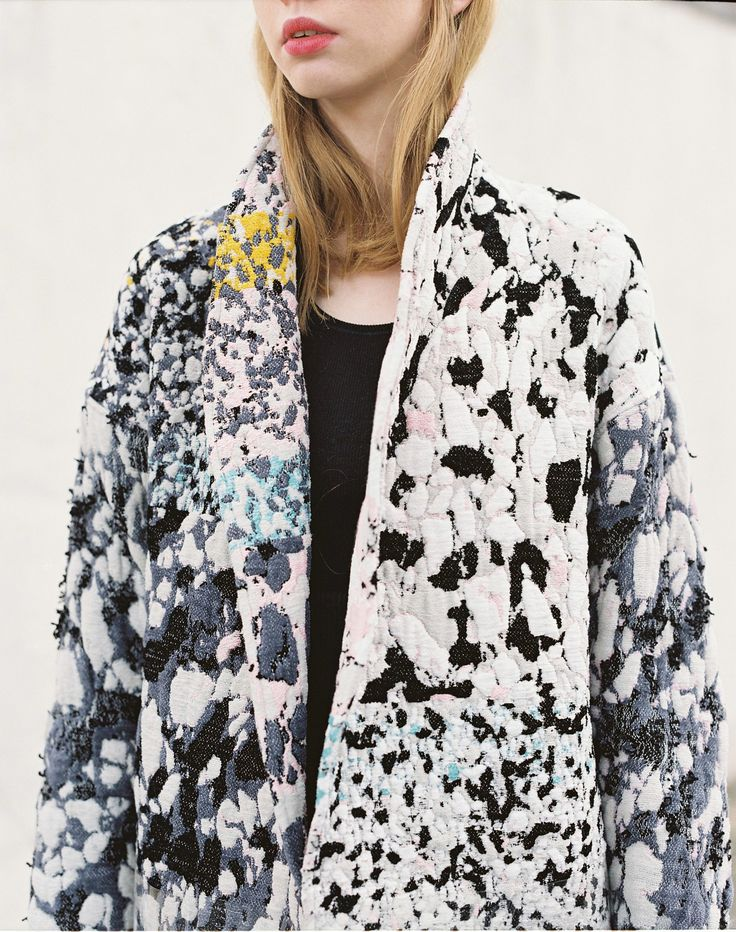 Federica Tedeschi, incredible cost, embroidered, delicate, pale bless and pinks and greys, pops of yellow.