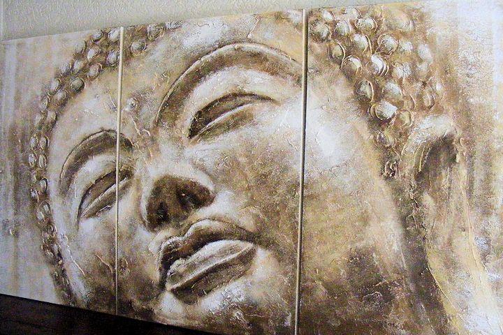 Nu Stunt: Boeddha Schilderij Sky 3-luik 2x1 meter