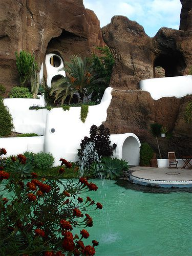 Lagomar, a cave home formally owned by Omar Sharif. Lanzarote,