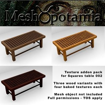 Meshopotamia Squares Table 002 Texture Addon