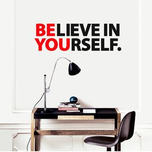 BE YOU - great wall decal for the office or workspace. $64.90