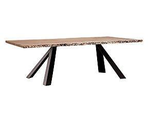 Tavolo in briccola e metallo Nevada - 220x100x75 cm