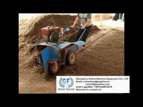 diesel mushroom compost turner composting turner equipment