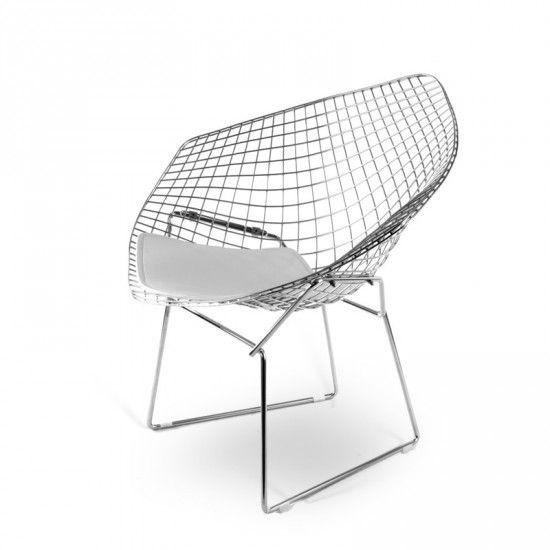 Wired Diamond Chair Harry Bertoia Weiß - POPfurniture.com