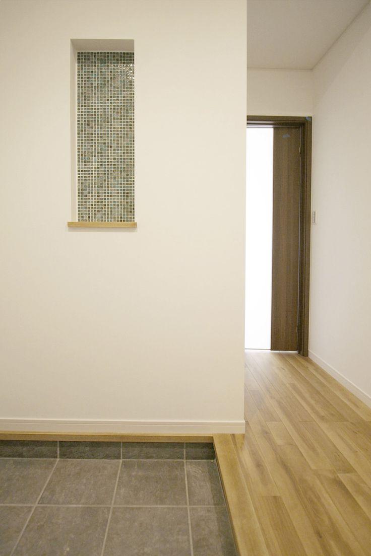 ニッチ/タイル/飾り棚/インテリア/ナチュラルインテリア/注文住宅/施工例/ジャストの家/niche/interior/house/homedecor/housedesign