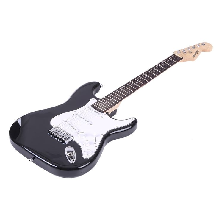 Only US$149.64, black ammoon Full Size Electric Guitar Poplar Wood Body Rosewood - Tomtop.com