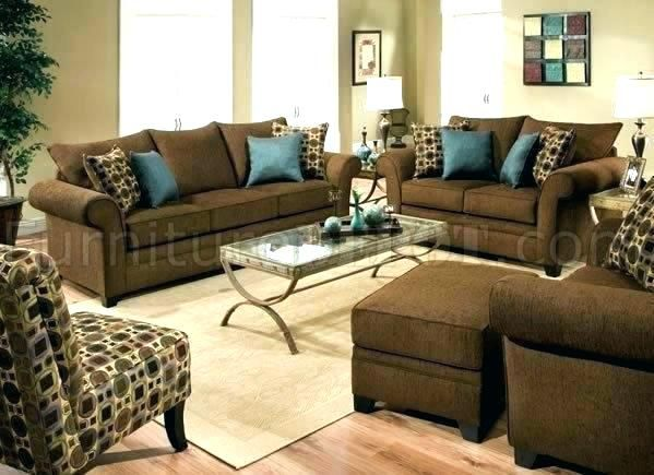 Throw Pillows On Leather Sofa Brown Living Room Decor Brown And