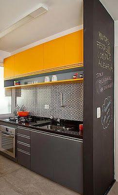Love the idea of a chalkboard wall