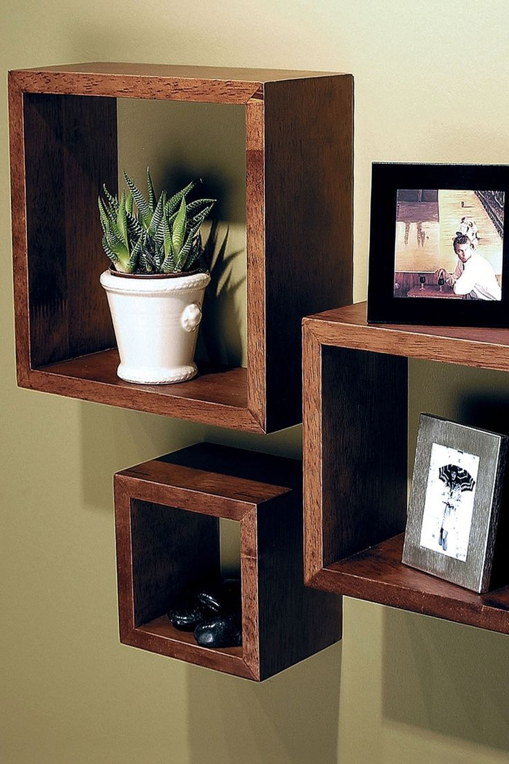 Cubbi Accent Wall Shelves - Cairo - Set of 3.  Above homework table with essentials (pencils, rulers, paper, etc).