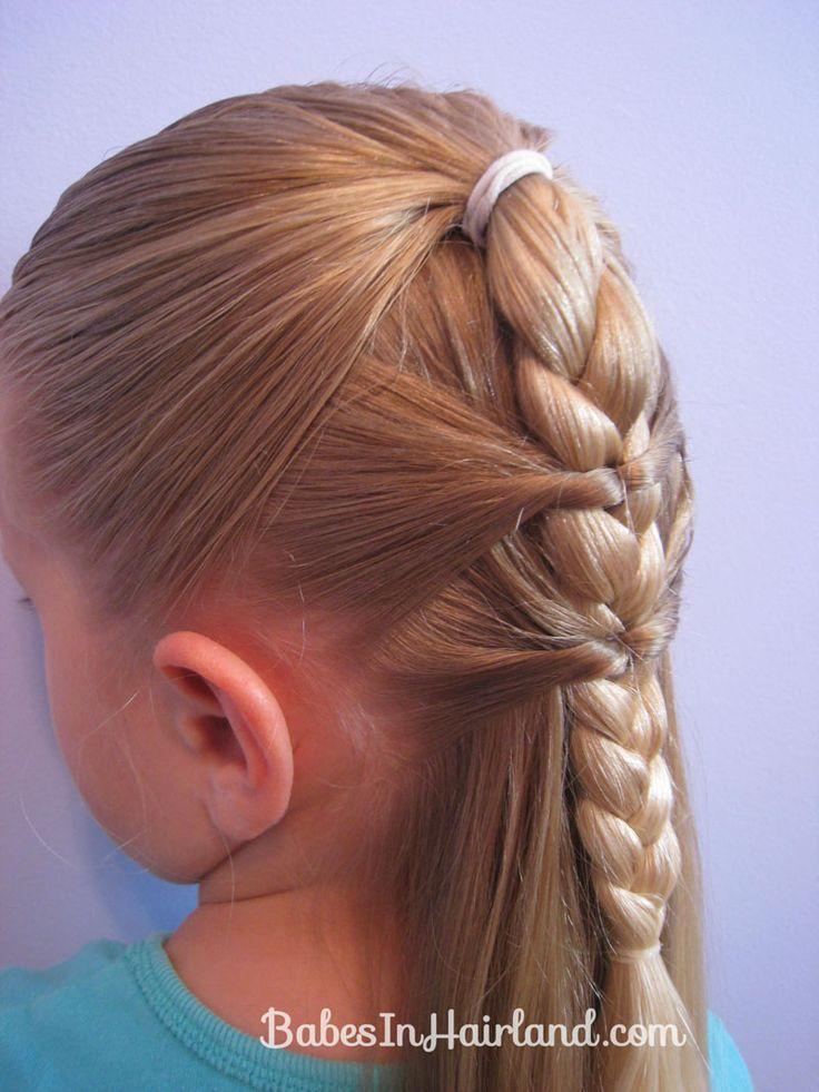 Super De 21 Beste Bildene Om Topsy Tail Pa Pinterest Franske Fletter Short Hairstyles Gunalazisus