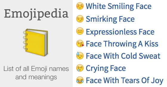 Emojipedia  — Find any Emoji Meaning