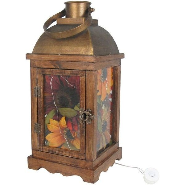 SONOMA Goods for Life™ Artificial Sunflower Light-Up Lantern Table... ($30) ❤ liked on Polyvore featuring home, home decor, multicolor, colored lanterns, battery powered lanterns, rustic home decor, mini lanterns and rustic lanterns