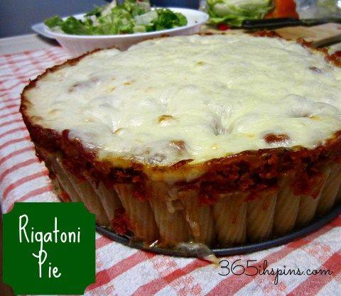 Vol. 2, Day 7: Rigatoni Pie - 365ish Days of Pinterest
