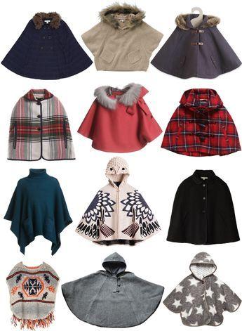 Capas y ponchos para niña (Ponchos and capes for a little girl.)                                                                                                                                                                                 Más