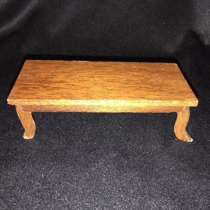 DOLLHOUSE Wood Wooden COFFEE TABLE Living Room Furniture Dark WALNUT ? Stain #Unbranded