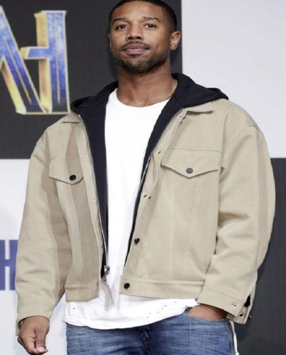 87912b9d176 Michael B. Jordan Black Panther Press Conference Jacket | Michael B ...
