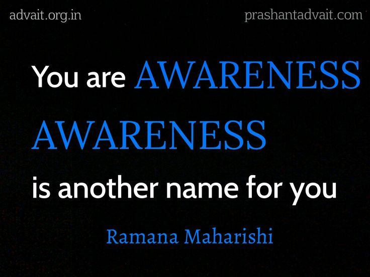 You are Awareness. Awareness is another name for you. ~ Ramana Maharishi #ShriPrashant #Advait #Ramanamaharshi #awareness Read at:- prashantadvait.com Watch at:- www.youtube.com/c/ShriPrashant Website:- www.advait.org.in Facebook:- www.facebook.com/prashant.advait LinkedIn:- www.linkedin.com/in/prashantadvait Twitter:- https://twitter.com/Prashant_Advait