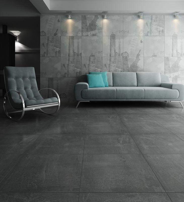 Cementina Antracite 600x600