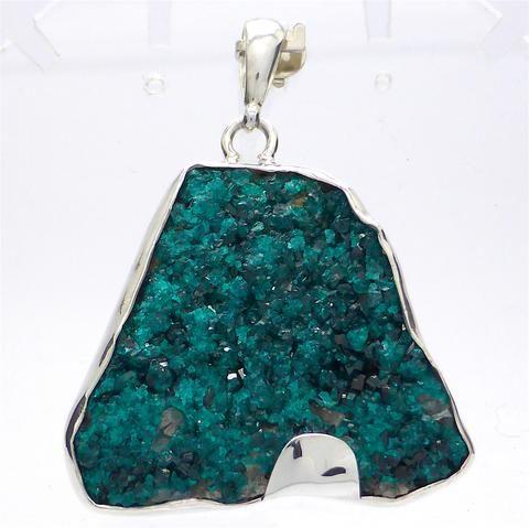 Natural Dioptase Cluster Pendant | 925 Sterling Silver | Crystal Heart Melbourne Australia since 1986