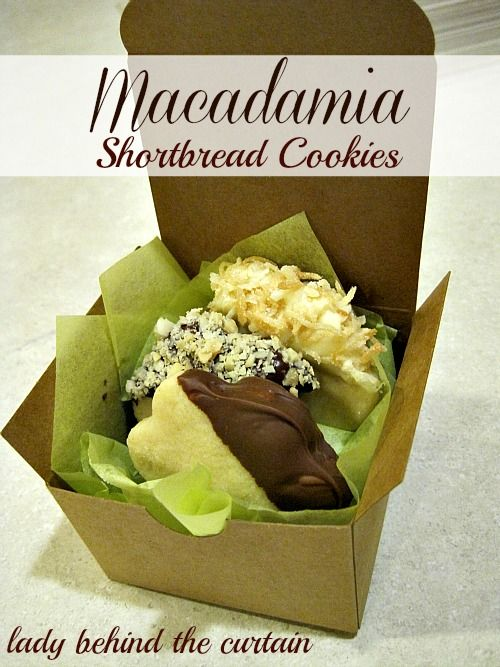 Lady Behind The Curtain - Macadamia Shortbread Cookies