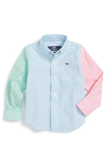 Vineyard Vines 'Party Whale' Woven Sport Shirt (Big Boys) available at #Nordstrom