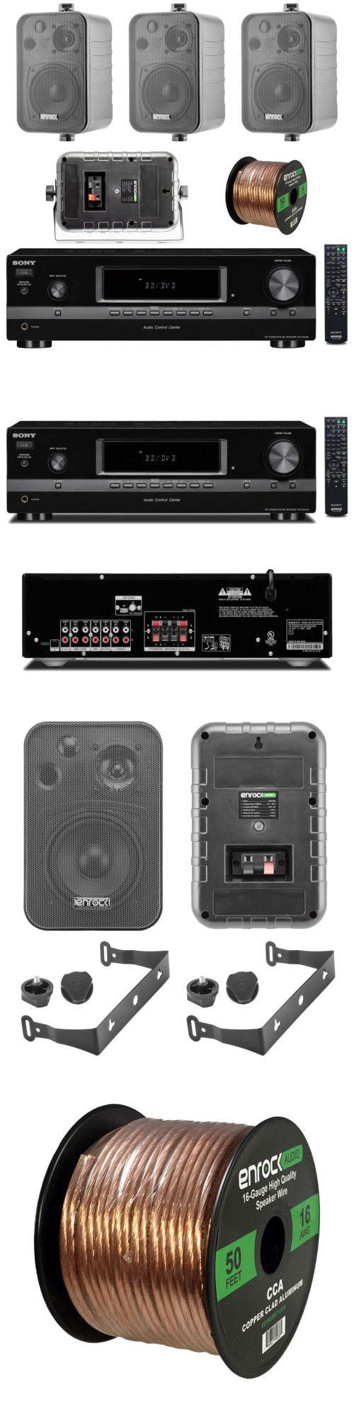 Accessory Bundles: Sony Am Fm Stereo Receiver, Enrock 4 In Outdoor Speakers, 50Ft Speaker Wire -> BUY IT NOW ONLY: $228.99 on eBay!