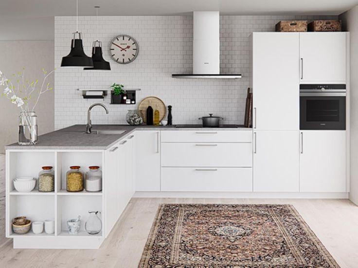 Tiende un puente entre los espacios y las funciones con una cocina abierta. Acércate a Kvik y descubre nuestras cocinas con estanterías abiertas que te permitirán personalizar tu cocina.