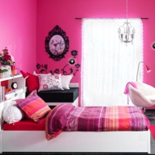 Pink   magenta   red girl bedroom. 17 Best images about Bedroom inspiration on Pinterest   Hot pink