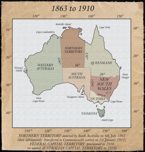 Australian Heritage - How the states were formed over time