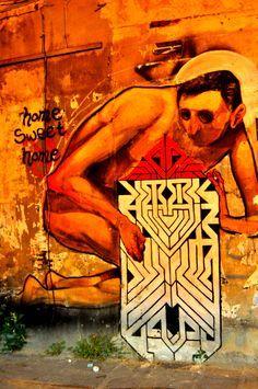 Και η τέχνη του δρόμου συνεχίζεται Ladadika District - Thessaloniki