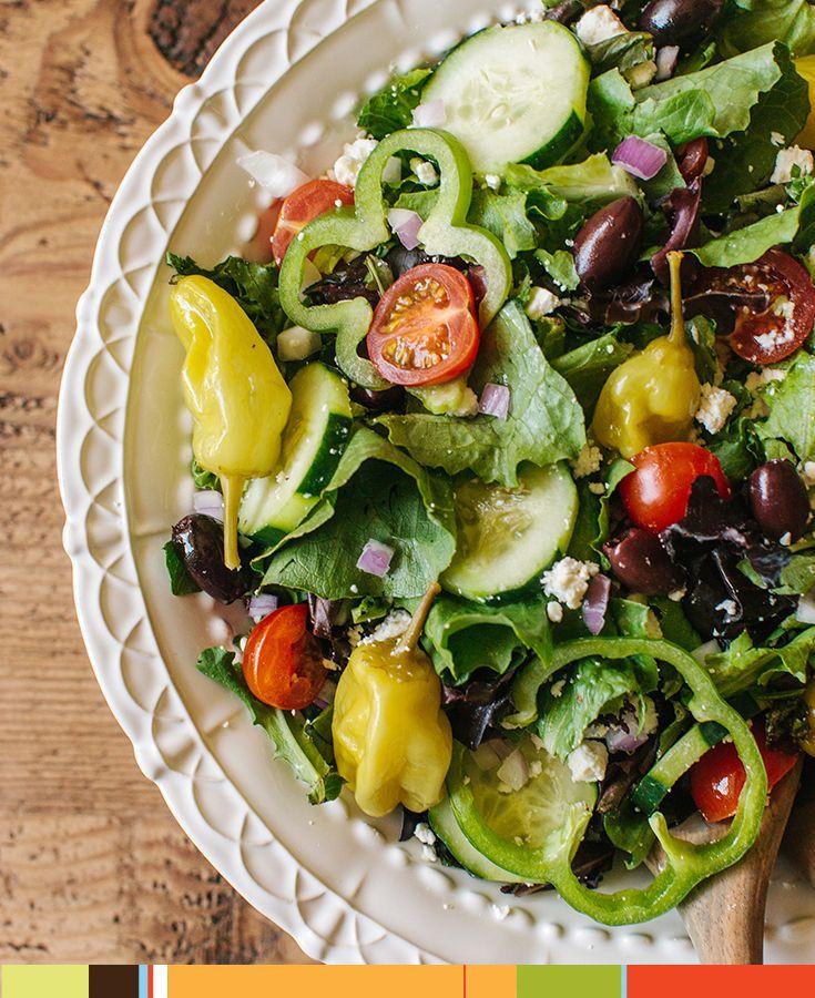 Freshen up your next celebration with Zoës Kitchen Greek Salad #livemediterranean