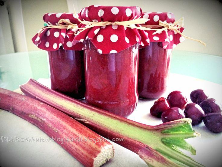 Fitt fazék kultúrblog : Cukormentes cseresznye-rebarbara lekvár.