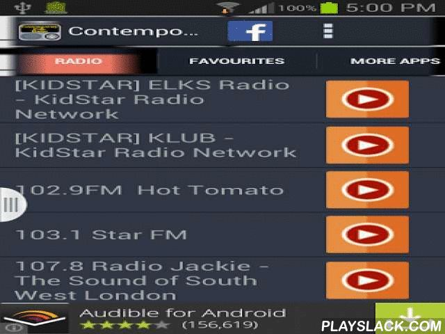Contemporary Folk Radio  Android App - playslack.com , Contemporary Folk Music Radio is the best, free and personalized radio service that plays the best Contemporary Folk music you love. You can even customize and create your favorite radio station list. If you love Contemporary Folk music, you are in a treat. Install and run this app now, it won't disappoint you.Features: There are more than 70 radio stations.You can select your favorite stations and add them in a separate listYou can…
