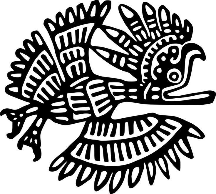 Pták, Mexiko, Inca, Maya, Aztékové, Historické