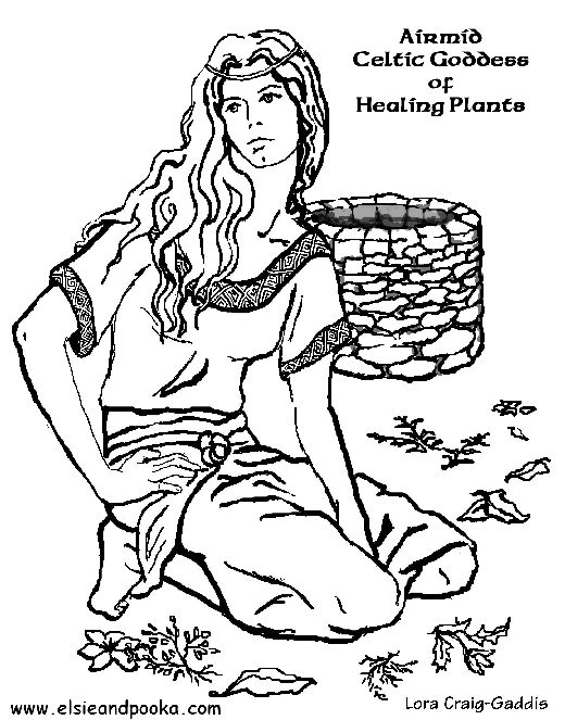 Airmid is one of the Tuatha De Danann. She is the goddess of healing, especially of healing herbs and the magick they contain. Healers and those who work with herbs usually call upon her for help with healing, or to identify an unknown herb.