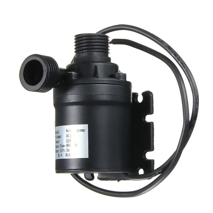 DC 12V 24V Hot Water Circulation Pump Solar Water Pump Brushless Motor 5m Lift  Features: - This DC pump uses advanced electronic components and high-quality wear-resistant shaft - It is smooth operation high efficiency good performance long service life - Can be a long time continuous work low noise safety and environmental protection. - It is widely used in industry scientific research aerospace industry. Specification: Name: Solar Water pump Material:Plastic Color:Black Sizes:About 4cm(D)…