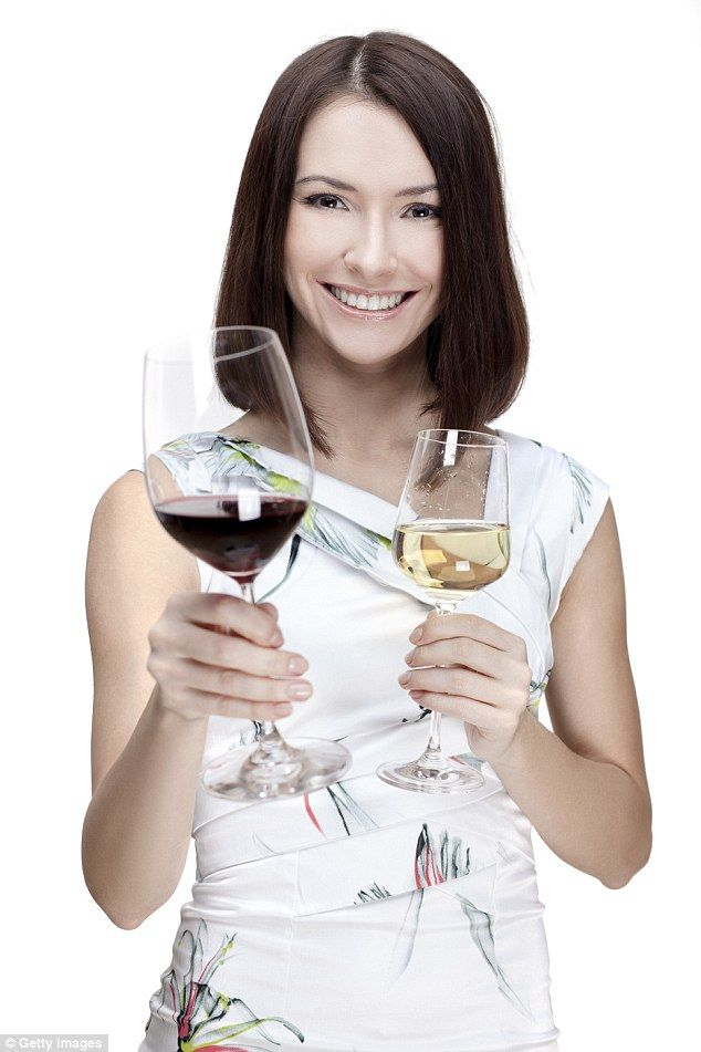 Tanya Zuckerbrot, creator of the F-Factor Diet, says you can still drink wine when on a diet as long as you count the calories (picture posed by model)