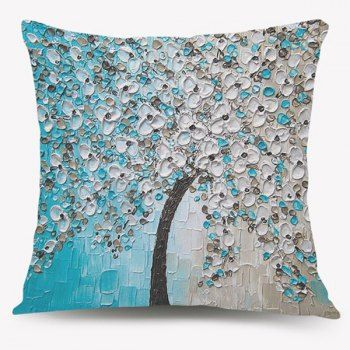 Sofa BedSleeper Sofa Blossom Tree Oil Painting Sofa Cushion Pillow Case