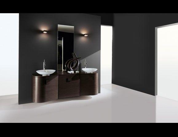 Giunone 144 LA Edone Crio Vanity Modern Italian Bathroom Vanity in Oak