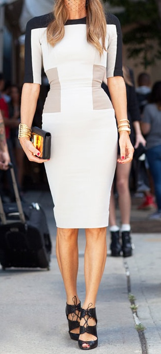 Color block dress / Victoria Beckham