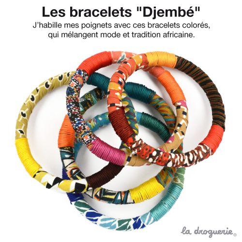 5 bracelets caoutchoucs à recouvrir de rubans et de lacets multicolores. J'ai juste besoin d'un peu de colle et j'enroule mes rubans autour du bracelet, c'est facile ! #ladroguerie #bijoux