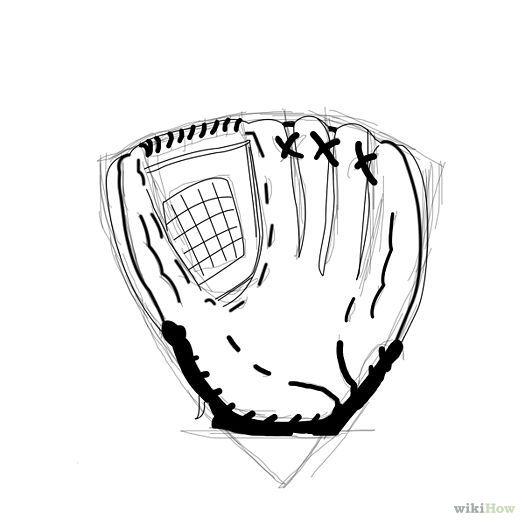 Pin by Jill Jurina on how to draw | Gloves, Baseball, Drawings