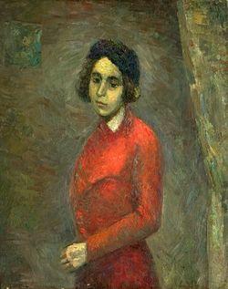 Фальк Р. Р. Женщина в синем берете. Портрет Л. Г. Попеску. 1932. Холст, масло